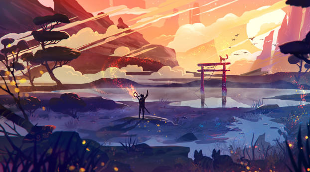 HD Wallpaper | Background Image Alone Journey Art