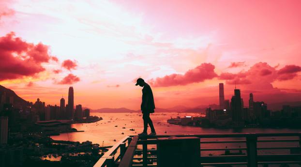 Alone Silhouette Wallpaper 2560x1080 Resolution