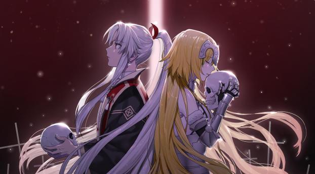 Amakusa Shirou and Jeanne d'Arc Wallpaper 320x568 Resolution