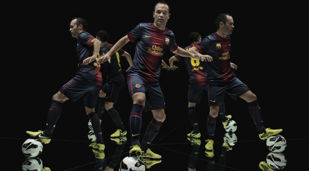 1080x2280 Andres Iniesta Barca Fc Barcelona One Plus 6