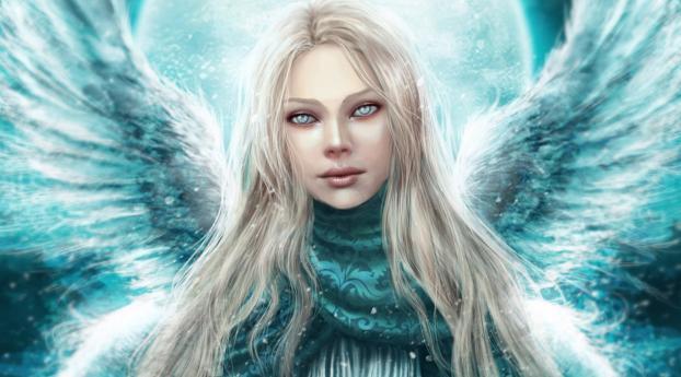 1242x2688 Angel Girl Wings Iphone Xs Max Wallpaper Hd