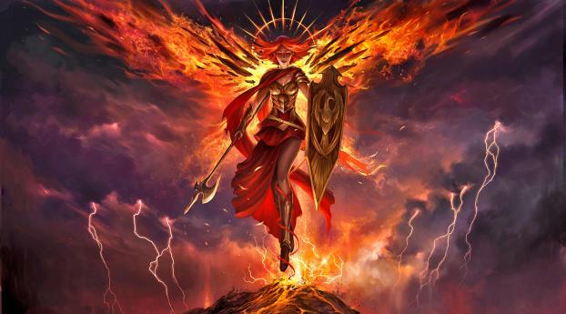 Angel Warrior Magic The Gathering Wallpaper