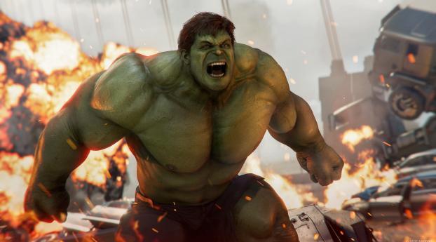 Angry Hulk Marvel's Avengers 4K Wallpaper 320x240 Resolution