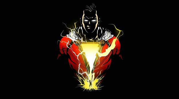 HD Wallpaper | Background Image Angry Shazam Minimalist