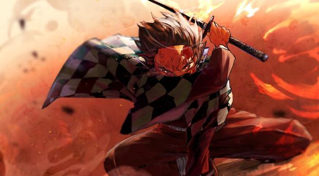 Angry Tanjirou Kamado Wallpaper 1440x2960 Resolution