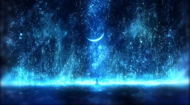 Anime Night Effect Wallpaper 800x1280 Resolution