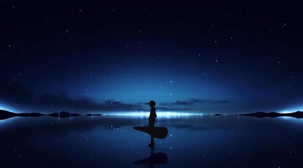 Anime Original Alone Boy Wallpaper