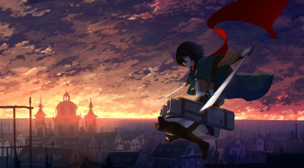 anime, shingeki no kyojin, mikasa ackerman Wallpaper in 1280x1024 Resolution
