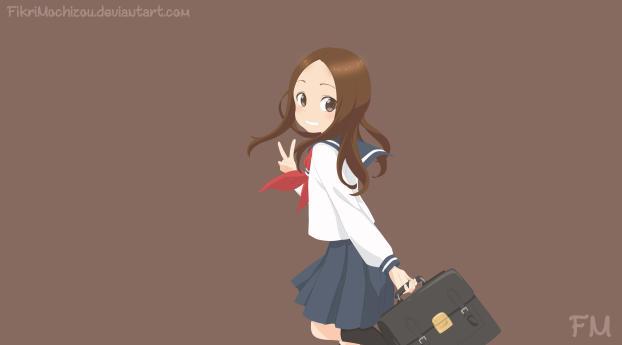 Anime Takagi Wallpaper 2932x2932 Resolution