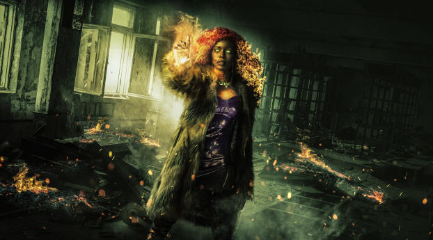 HD Wallpaper | Background Image Anna Diop as Starfire