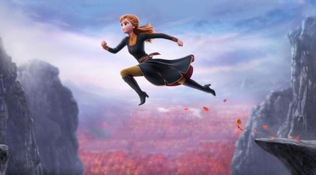 Anna In Frozen 2 Wallpaper 2560x1024 Resolution