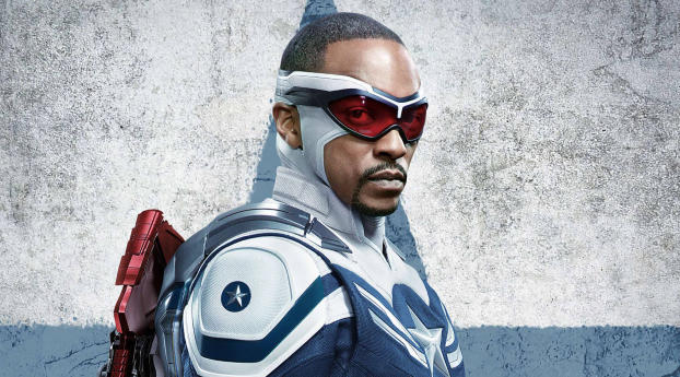 Anthony Mackie as Captain America Wallpaper 720x1280 Resolution