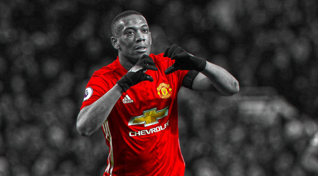 Anthony Martial  Manchester United Wallpaper 2048x1152 Resolution