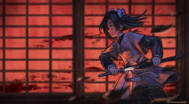 HD Wallpaper | Background Image Aoi Kanzaki Kimetsu no Yaiba
