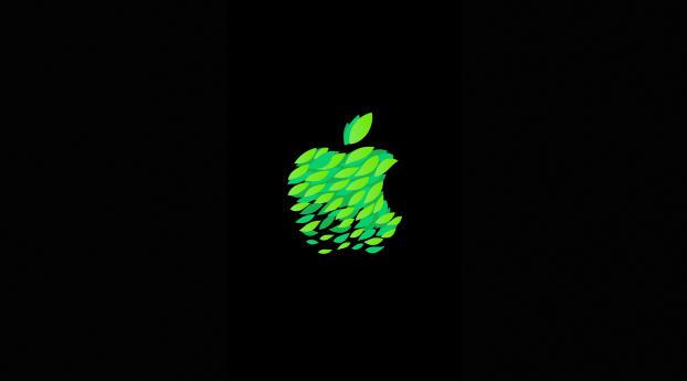Apple Leaf Logo Wallpaper 1440x2560 Resolution