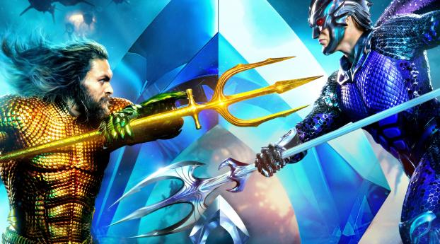 HD Wallpaper | Background Image Aquaman And Ocean Master Fight