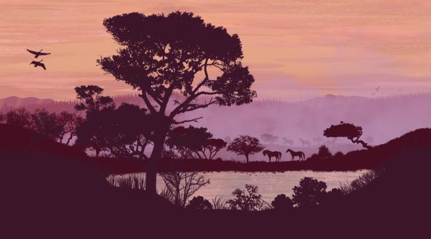 HD Wallpaper | Background Image Artistic Landscape Forest