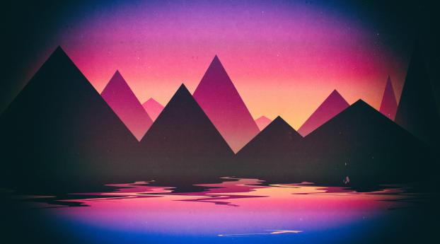 Artistic Landscape Retro Art Wallpaper 1440x900 Resolution