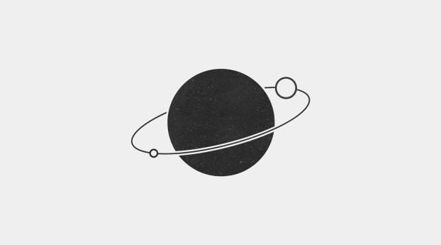 Artistic Minimalism Planet New Wallpaper 320x568 Resolution
