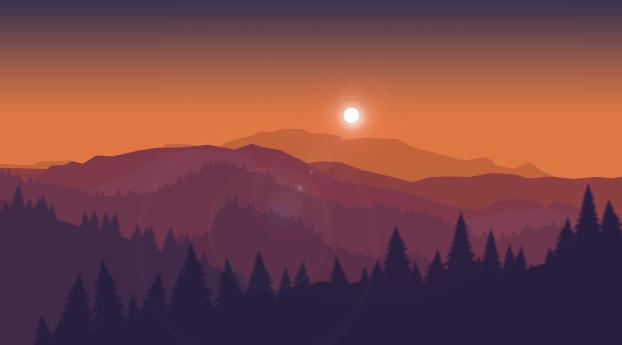 Artistic Orange Landscape Wallpaper 320x568 Resolution
