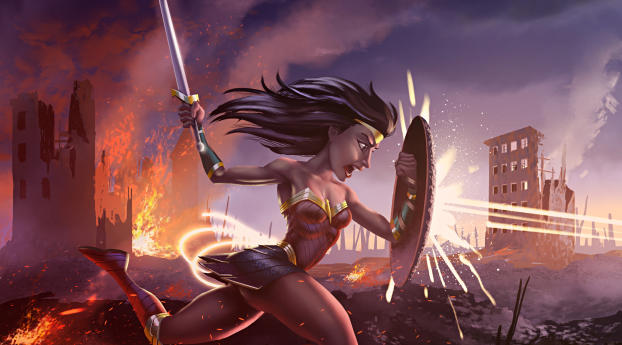 HD Wallpaper | Background Image Artwork Of Wonder Woman