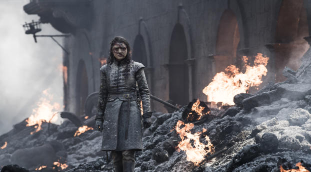 HD Wallpaper | Background Image Arya Stark In GOT 8 The Last War