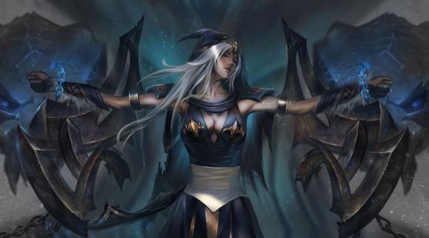 HD Wallpaper | Background Image Ashe League Of Legends Art