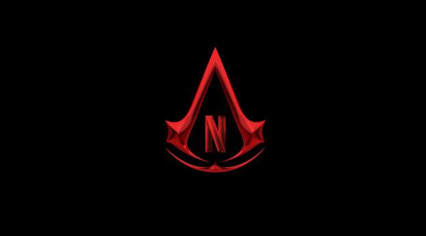 Assassin's Creed Netflix Show Logo Wallpaper 640x1136 Resolution