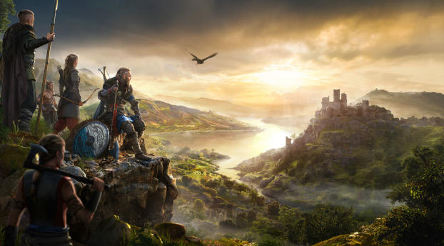 Assassin's Creed Valhalla Canon 5K Wallpaper 7680x4320 Resolution