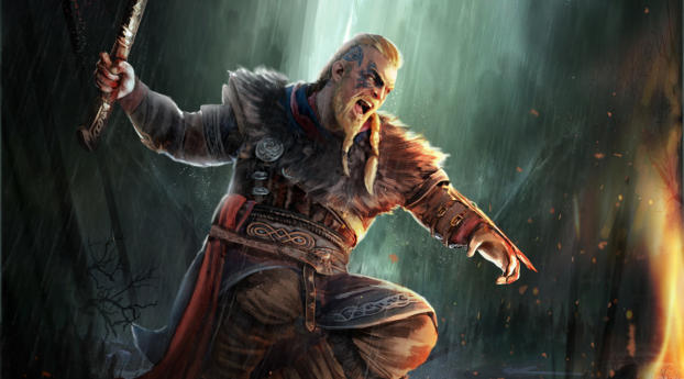 Assassin S Creed Valhalla Male Viking Warrior Wallpaper Hd Games 4k Wallpapers Images Photos And Background