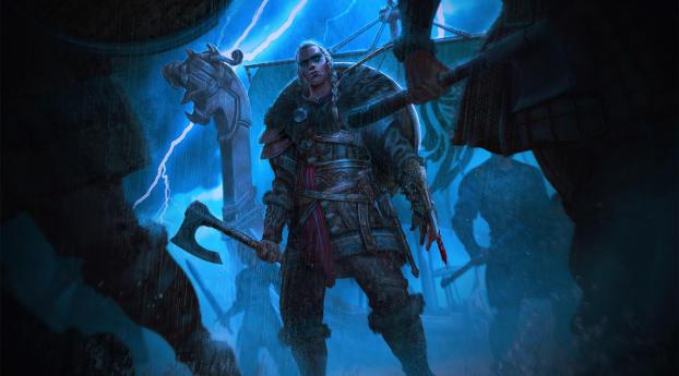 HD Wallpaper   Background Image Assassins Creed Valhalla Woman Warrior