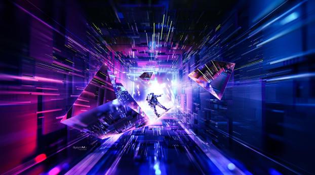 Astronaut 3D Artwork Wallpaper 2560x1700 Resolution