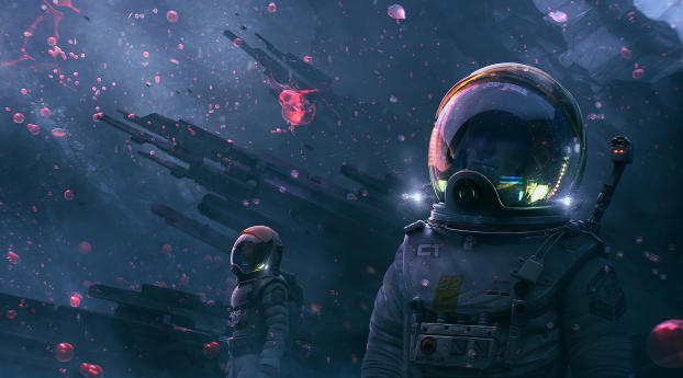HD Wallpaper | Background Image Astronaut Digital Art