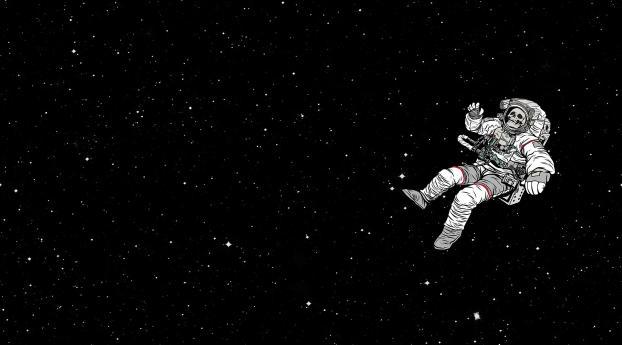 Astronaut Skull Space Suit Wallpaper 320x568 Resolution