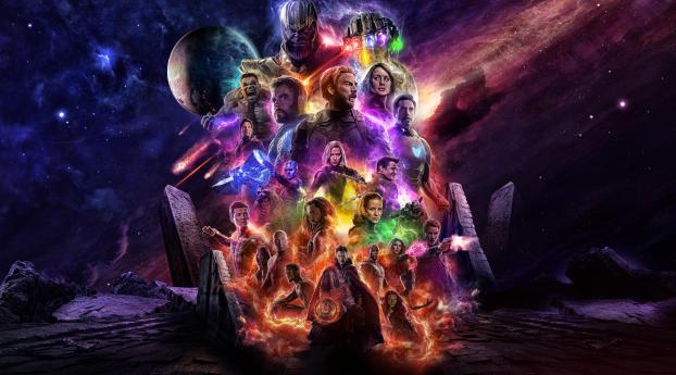 HD Wallpaper | Background Image Avengers 4 Endgame 2019 Movie Keyart