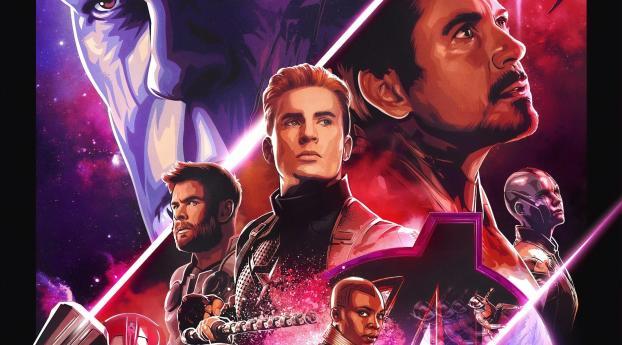 Avengers Endgame 5k Retro Poster Wallpaper Hd Movies 4k Wallpapers