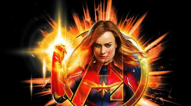 Avengers Endgame Captain Marvel Artwork 2018 Wallpaper 2560x1700 Resolution