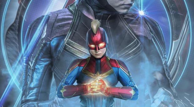 Captain Marvel Fantasy Art Wallpapers Hd Desktop And: Avengers Endgame Captain Marvel Poster Art Wallpaper, HD