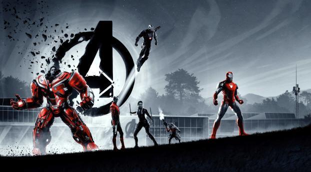 Avengers Endgame New 4k 8k Poster Wallpaper 640x960 Resolution