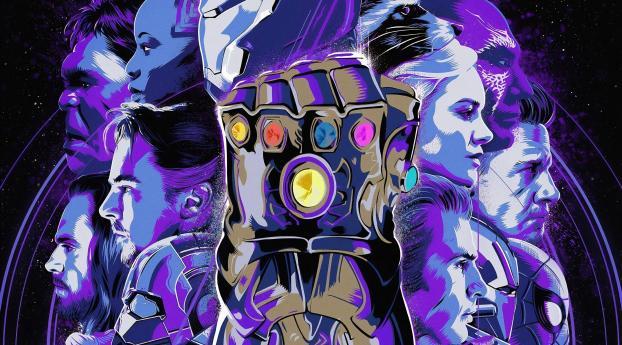 Avengers Endgame Official Poster 4K Wallpaper 1242x2688 Resolution