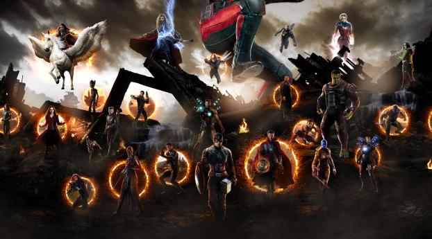 HD Wallpaper | Background Image Avengers Endgame War Scene Fanart