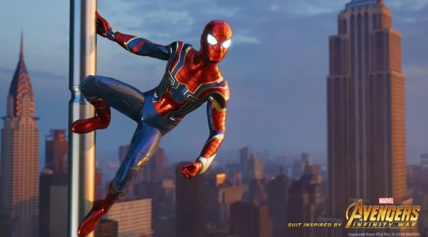 Avengers Infinity War Iron Spider in Spider-Man Game Wallpaper