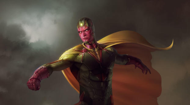 HD Wallpaper | Background Image Avengers Vision Artwork
