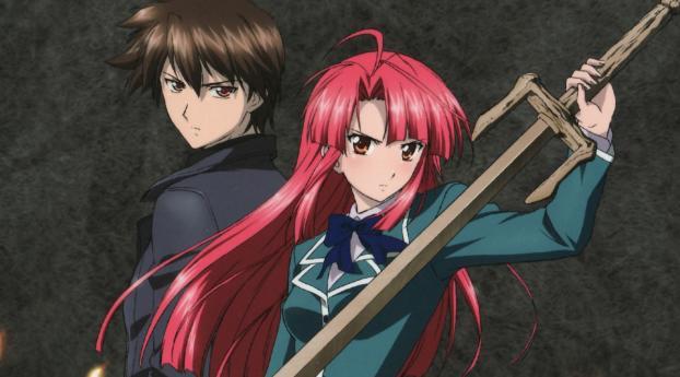 HD Wallpaper | Background Image Ayano Kannagi and Kazuma Yagami