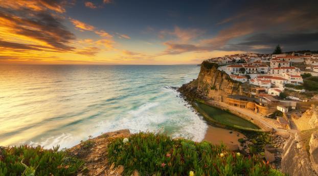 Azenhas do Mar Landscape Wallpaper
