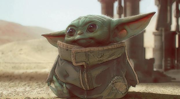 Baby Yoda Art Mandalorian Wallpaper