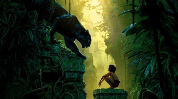 Bagheera & Mowgli Jungle Book Wallpaper 2048x1152 Resolution