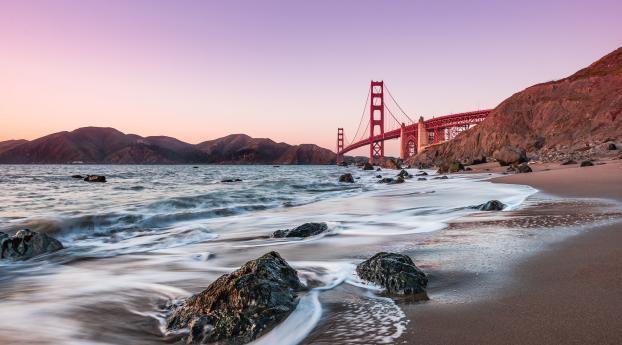 HD Wallpaper | Background Image Baker Beach Golden Gate Bridge