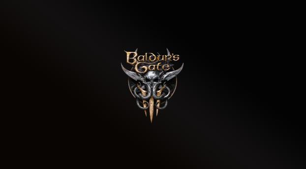 Baldurs Gate 3 Logo 4K Wallpaper 320x568 Resolution