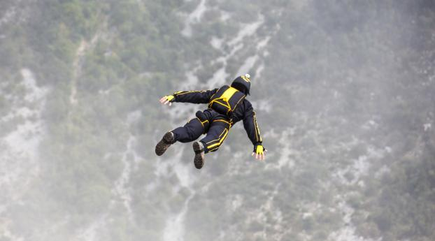 HD Wallpaper | Background Image base jumping, sky, parasailing